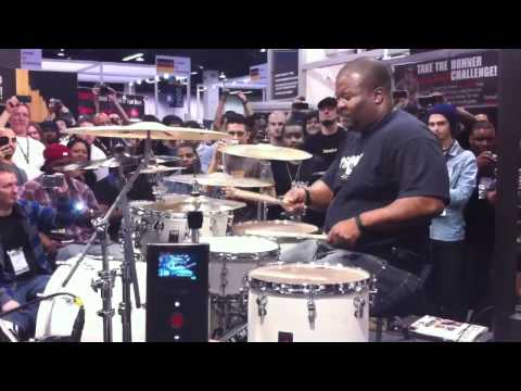 Chris Coleman at NAMM 2011 part 2 - Drum Solos