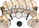 Dream kit config 2:    3 24x18 bassdrums   2 24x18 gong kicks  8x6, 10x8, 12x10, 13x11, 14x12, 15x13 racktoms  6x4, 6x6, 6x8, 6x10, 6x12, 6x14, 6x16,...