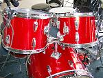 13x9 tom, 16x16 floor tom and 22x18 bass drum made 1966