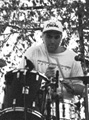 One of the few pictures of me not on my own drums at an outdoor festival in Yonkers.