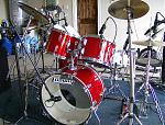 late8's Vintage '60s Ludwig rewrapped in Candy Apple Red